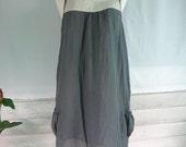 Fresh Natural  2 tones Gray  Tunic Dress