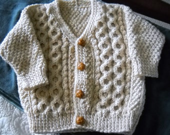 Boy Irish V Neck Cardigan Sweater