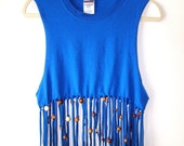 Dreamcatcher Beaded Fringe Ombre Tank size S