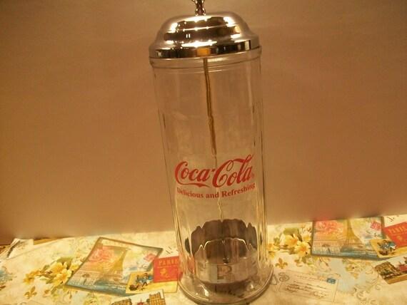 Vintage Coca Cola Straw Holder
