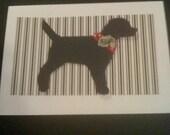 Packet of 3 Large  Labrador Cards/Envelopes