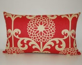 Modern 13x21 Vintage Inspired Raspberry Red Pillow