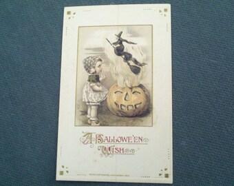Rare John Winsch 1914 Halloween Postcard, Freixas design