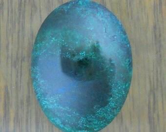 Malachite Chrysocolla  30 by 40 Cabochon