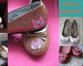 Custom Order Hand-painted unique flats just for you
