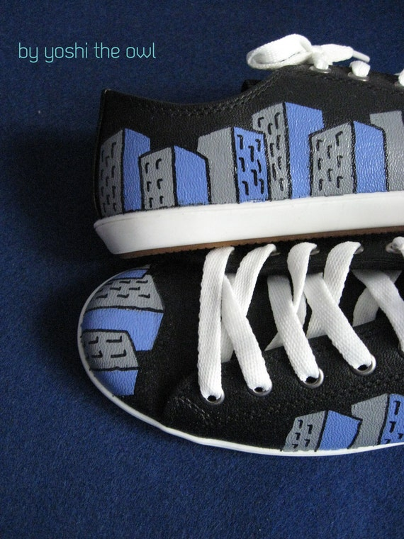 The Architect Sneakers - Hand-painted unique shoes