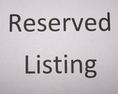 Reserved Listing for Aimee AIMS0331