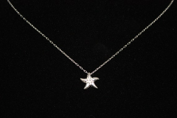 MAKE A DIFFERENCE STARFISH - sterling silver starfish necklace