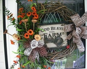 Farm House Wreath