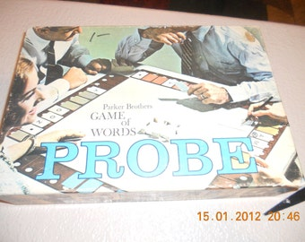 Vintage 1964 parker Brothers Probe game of words Family Retro Complete