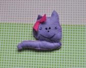 kocisz cat toy made of felt hand made love