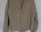 vintage mens wool vee neck cardigan grunge style
