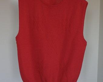vintage pendleton womens red wool sweater vest
