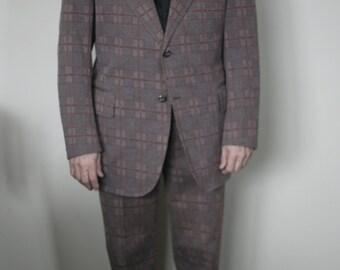 vintage mens plaid suit