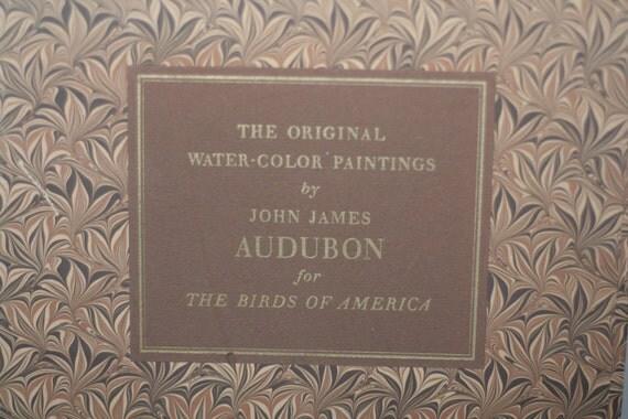 vintage audubon books birds of america