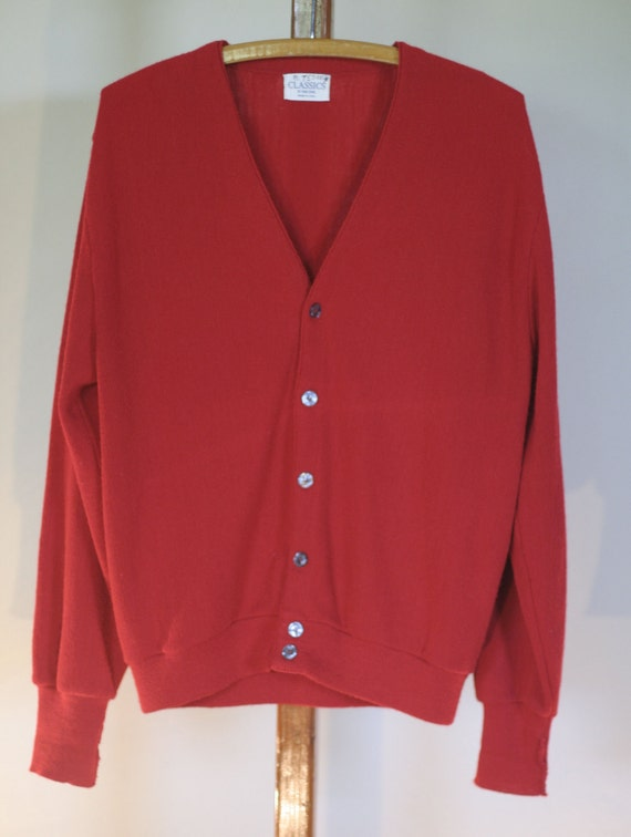 vintage red cardigan mr rogers