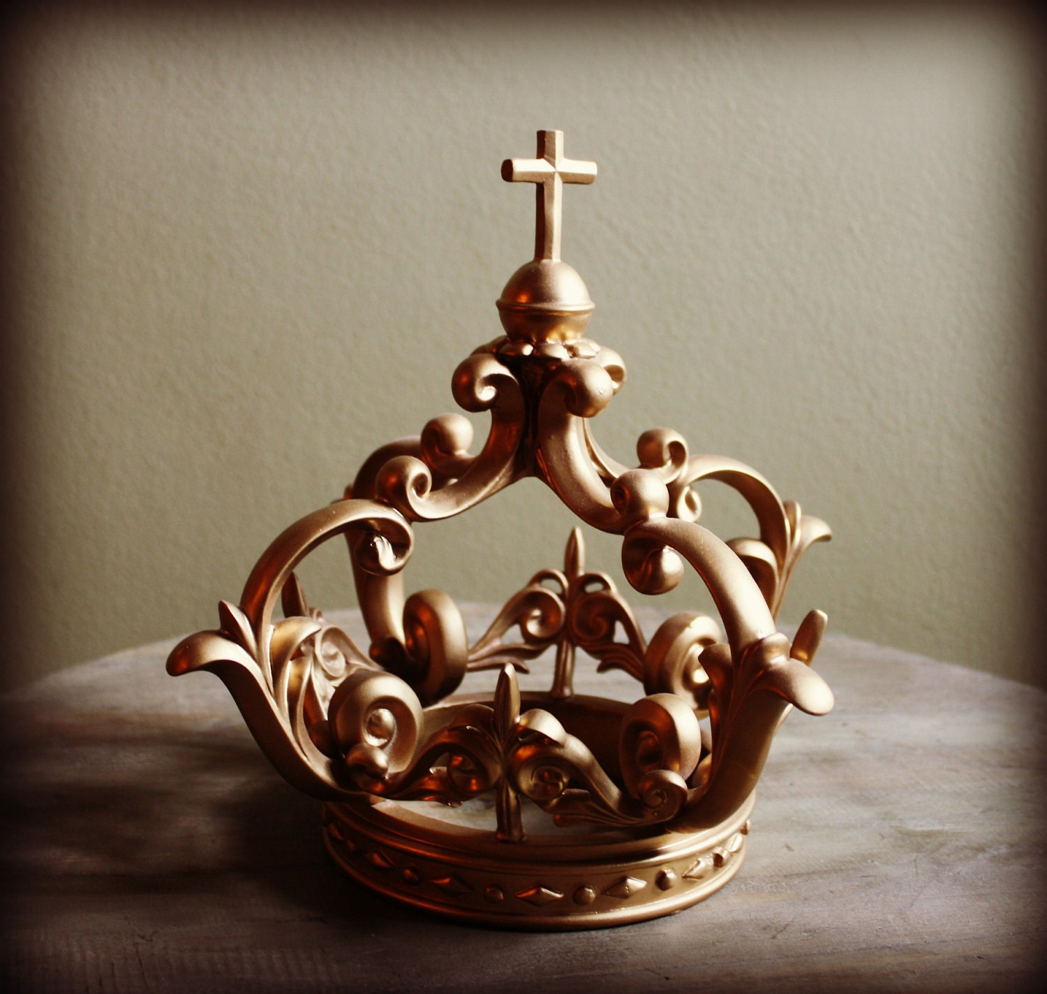 Large gold crown home decor shabby french decor 10 tall for House of decorative accessories