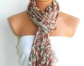 Multicolor Scarf. Turkish Fabric Fringed Guipure Scarf ..bandana,headband,wedding,bridal,authentic, romantic, elegant,