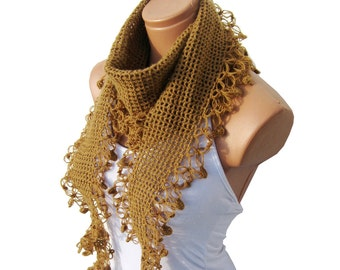 Caramel, trends scarf, hand knit, women scarves. Personalized Design. Latest Fashion. scarf, neckwarmer, scarflette...