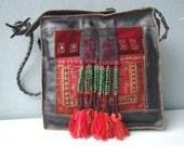 Red Fringed Leather Bag PT-51