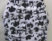 Modern cloth nappy / diaper - pocket style - Elephants