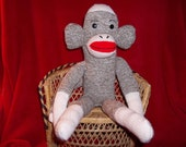 SOCK MONKEY Traditional Rockford Red Heel Handmade by Me