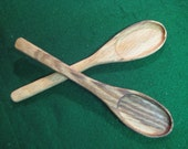small oak wooden spoons