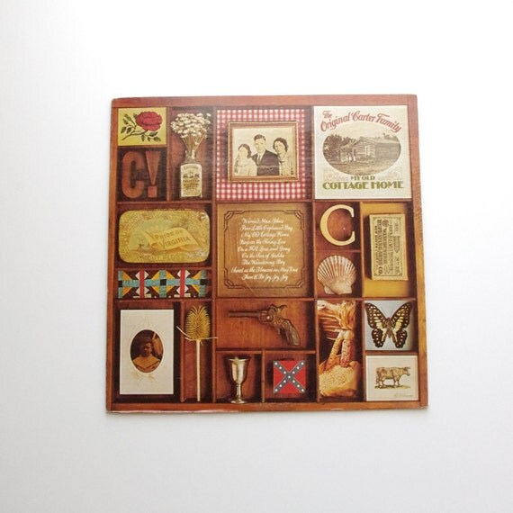 Vintage The Original Carter Family - My Old Cottage Home Vinyl Record - 1973 - June Carter - Johnny Cash - Americana