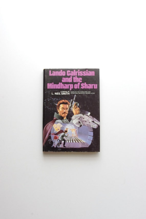 Lando Calrissian and the Mindharp of Sharu - Rare Star Wars Hard Cover Book Club Edition - 1983 - George Lucas - Han Solo - Father's Day