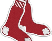 Boston  Socks - Applique and Embroidery FILES only