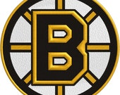 Boston Hockey Embroidery 4x4, 5x7, & 6x9 - Embroidery  - FILE ONLY