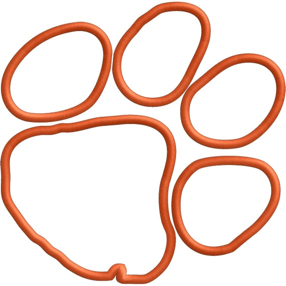 Tiger Paw -  Applique file only - INSTANT DOWNLOAD