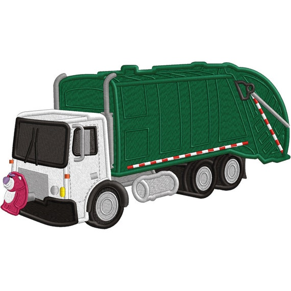 Garbage Truck  - Applique OR Embroidery file - FILE ONLY