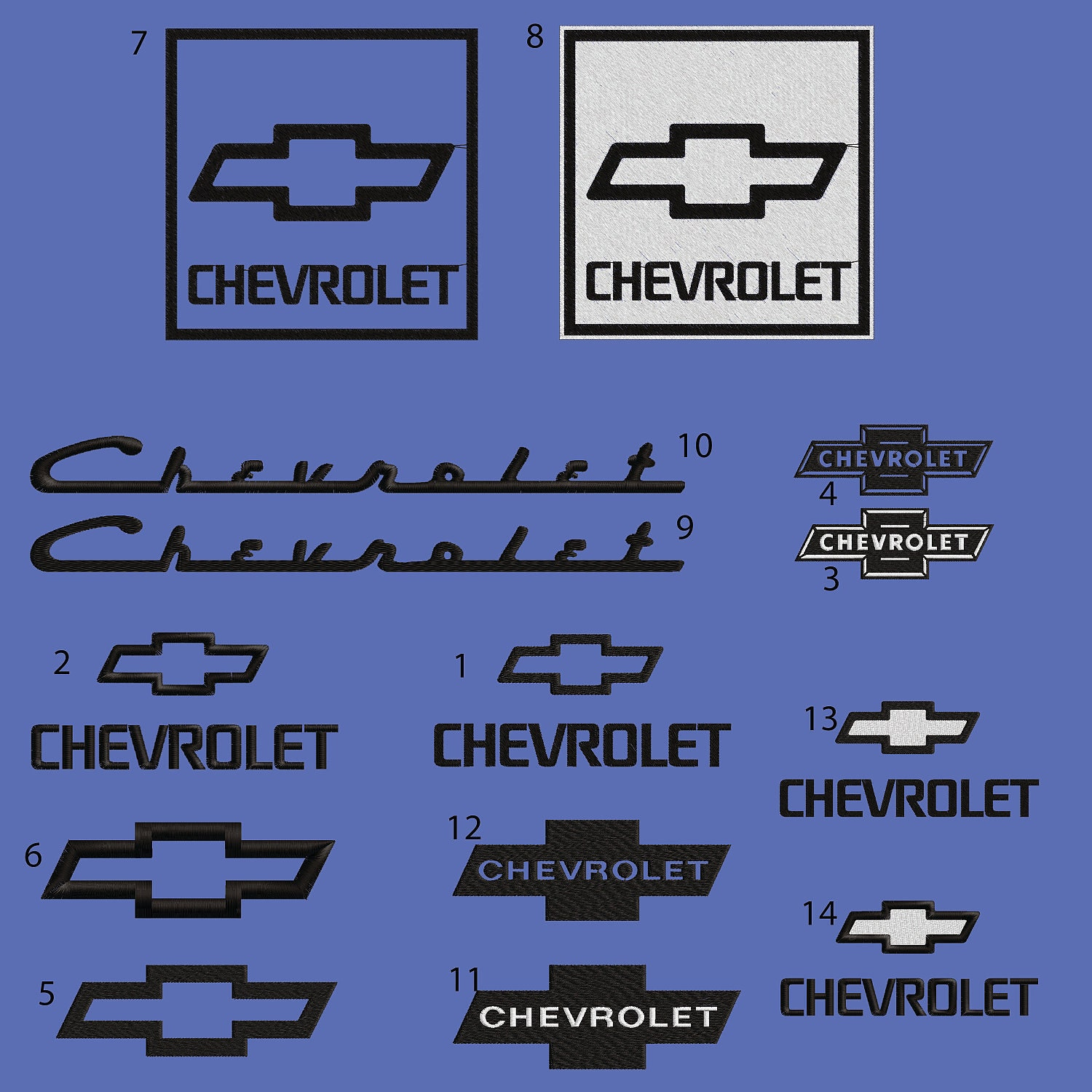 Chevy Logo Embroidery Design