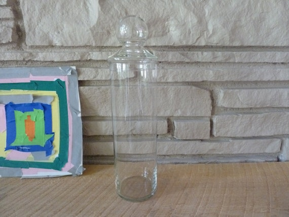 Vintage Apothecary Jar with Glass Lid