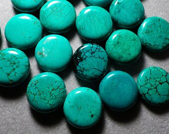 Turquoise Colored Howlite Disc Bead 17mm - 18mm
