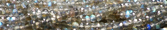 Last One Available. AAAA Labradorite Faceted Rondelle Whole Strand 3mm-4mm