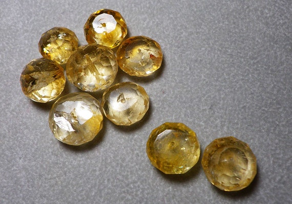 Citrine Faceted Rondelle 11mm to 13mm Beads