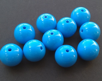 Turquoise Blue Plastic Gumball Beads