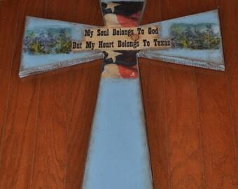 Blue Texas Cross