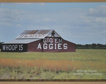 Aggie Barn On Canvas