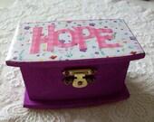 Hope or Prayer Keepsake Trinket Box