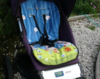 Reversible Pram and Stroller liners- Owl Fabric