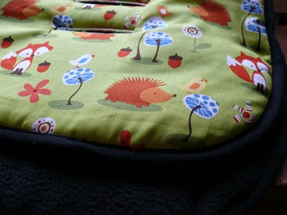 Reversible Pram and Stroller liners- Porky pine