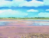 Killala bay, County Mayo, Ireland - original Acrylic  painting by Dave Smith
