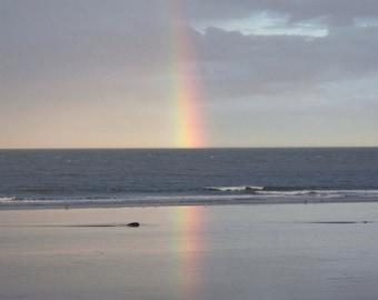 Rainbow of Hope over Cresswell Bay, Northumberland