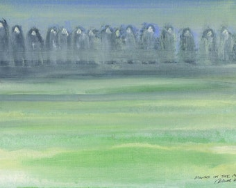 Ghostly Monks in the Mist - Print of original acrylic painting