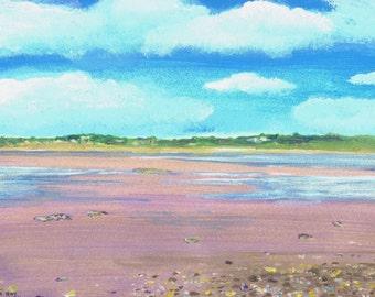 Killala bay, County Mayo, Ireland - Print of original Acrylic  painting by Dave Smith