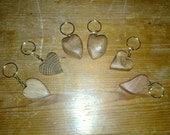 Wooden Heart Keyring (Oak, Ebony or Teak)
