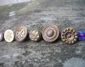 mixed berries gold vintage button bracelet